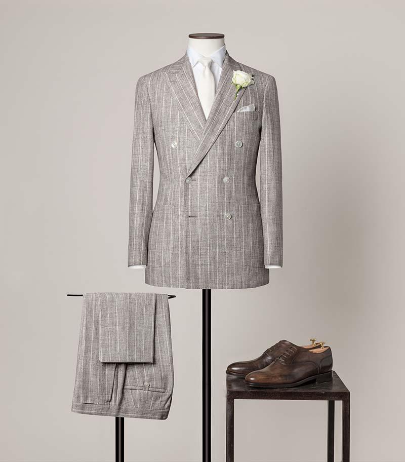 Costume mariage lin et soie