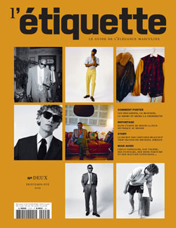 Couverture 1er numéro - Magazine L'Étiquette
