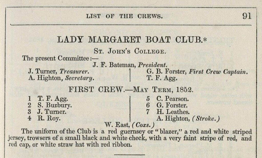 lady margaret boat club blazer definition
