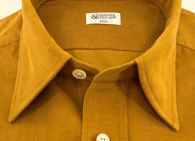 La chemise en velours italien